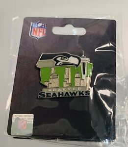 Seattle Seahawks Hat Pin Brand New Space Needle Green Skyline NFL Football 12th