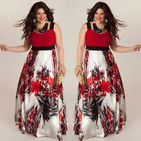 Grande Taille Femme Imprimé Floral Maxi Longueur Robe De Bal Soirée Party