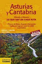 MAPA DE CARRETERAS ASTURIAS Y CANTABRIA 1:340.000 2018. ENVÍO URGENTE (ESPAÑA)