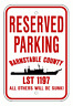 USS BRANSTABLE COUNTY LST 1197 Parking Sign US Navy USN