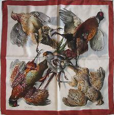 -Authentique Foulard HERMÈS «Belle Chasse» soie TBEG vintage scarf