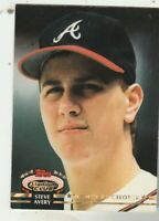 FREE SHIPPING-MINT-1992 Topps Stadium Club #594 Steve Avery Atlanta Braves