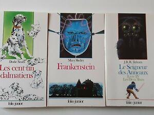 livres folio junior lot de 3 livres folio jr en français en bon état.