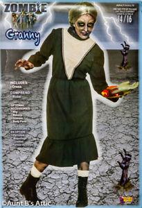 Victorian Dress Unisex Gray/Wht Norman Bates Psycho Granny Costume Dress