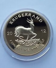 2012 coin.1oz Gold plated  South Africa Krugerrand coin