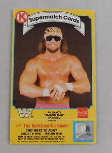 Randy Savage 1987 WWF Circle K Coca Cola Supermatch Scratch Wrestling