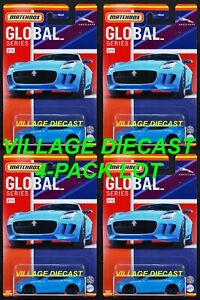 2021 Matchbox Global Series #4 '15 Jaguar F-Type Coupe ULTRA BLUE / 4-PACK LOT