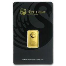 Ingot gold 24 carats 999,9/1000-perth mint australia 5 grams gold bar