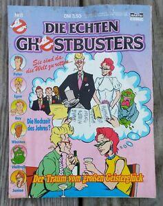 "Original 1986 GERMAN ""GHOSTBUSTERS"" Nr.8 COMIC BOOK Baisti (ALF Back Cover)"