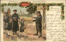 Altenburger Thuringia Germany Native Costumes Child Flowers 1906 Used PC