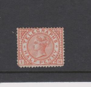 2128 GB 1876-81 1/2d Telegraph mint round co9rner SG T1