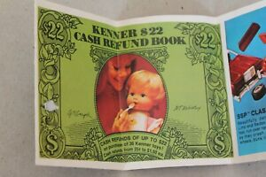 1970's Kenner toys $22 Cash Refund Pamphlet Coupon  Book
