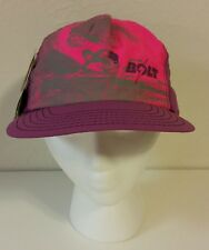 NEW Vtg 80s 90s Lightning Bolt Neon Surfer Cap Hat Beach Snapback Surfing Skater