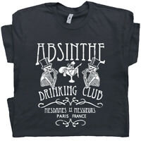 Absinthe T Shirt Paris France Graphic Tee Vintage Beer Drinking Shirts Fairy T