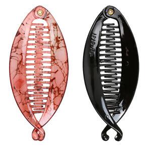2 Stück Fischform Banane Haarklammer Haarspange Haarclip Bananenspange