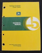 Genuine John Deere 450V 850V Chain Saw Technical Service Repair Manual Clean