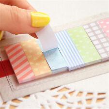 Precioso 160 Adhesivo Banderas Señalador De Página marcador Memo índice etiqueta pegajosa