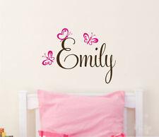 Wall Stickers custom baby name butterfly new vinyl decal decor Nursery kids