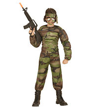 Widmann 00517 Soldier Children's Costume Muscular Muscle Shirt Trousers and