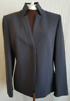 Linda Allard Ellen Tracy Size 6 Petite Blazer Jacket Gray Lined Notched Collar