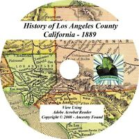 1889 History of Los Angeles County California CA