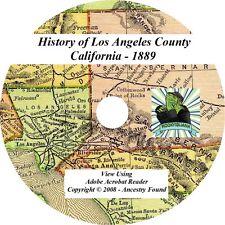 1889 History of Los Angeles County California CA