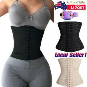 Women Waist Trainer Cincher Tummy Girdle Belt Body Shaper Black Corset Trimmer