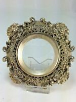 Antique Silver Tone Lovely Filigree Picture Frame