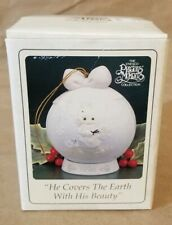 Precious Moments 1995 Porcelain Ball Ornament With Stand Enesco 142689 Boxed