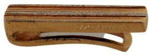 DOLCE & GABBANA Tie Clip Gold Silver Brass Branded Accessory RRP $350