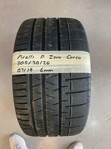 1 X PIRELLI P-ZERO CORSA 305/30/20 DOT (07/19) - 6MM (NEW TYRES ONLY 7MM)