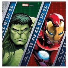Marvel Avengers Assemble 33cm Servilletas Niños Fiesta Cumpleaños Paquete de 20