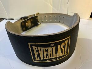 Everlast Weight Lifting Belt Model 1017 Medium Made In USA 39.5 Inches