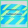 "3 yds 7/8"" Turquoise Blue Lime Green White Diagonal Stripe  Grosgrain Ribbon"