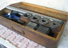 Vintage Craftsman Two Handle Threader With Solid Dies and Original Wood Box