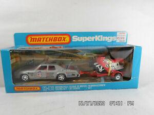 Vintage Matchbox Super Kings Motorcycle Racing Set K-91 1981 NOS NIB Unpunched!