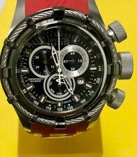 New Mens Invicta Reserve Swiss Quartz Red Rubber Strap 50mm Watch