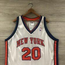 Vintage New York Knicks #20 Allan Houston Authentic Reebok Jersey Size 52