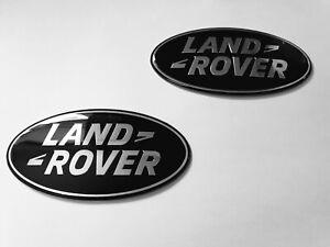 2 X OE LAND ROVER FREELANDER 2 104 105MM BLACK GRILLE + BOOT BADGES LR2