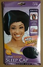 Large Satin Sleep Cap_Cover Most Hair Style_black Color_one Cap_Item # 151