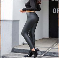 Leggings Leder Look Damen Stretch Legging Hose Jeggings Clubwear XS S M L FERANI