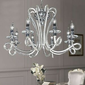Chandelier Crystal Contemporary 8 Lights With Crystals Design Op