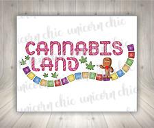 Cannabis Land Marijuana Sublimation Transfer Ready To Press