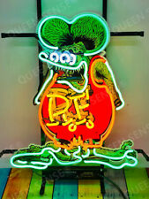 "New Rat Fink Rat Rod Rf Light Lamp Neon Sign 20"" With Hd Vivid Printing"