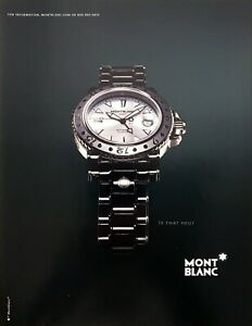 """2003 Mont Blanc Automatic GMT Watch photo """"Is That You?"""" vintage print ad"""