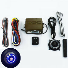 Car Alarm System Kit Inductive Remote Control Engine Push Button Start Type D