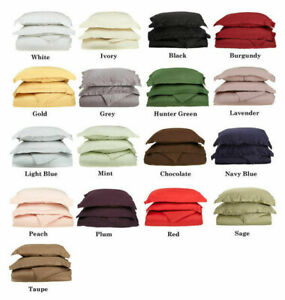 "600 TC 100%Cotton Extra Large Pillow Cases 22"" x 31"" - 1 Pair Solid Colors"