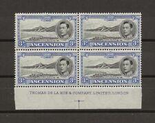 ASCENSION 1938-53 SG 42 IMPRINT MNH Block Cat £400