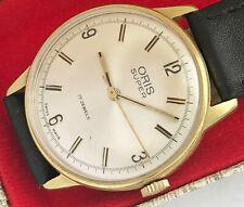 17 Jewels Swiss made Oris Super Men's vintage wind up watch.