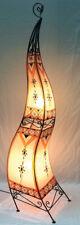 Moroccan Painted Henna Floor Lamp- squre- 150 cm- orange-cream